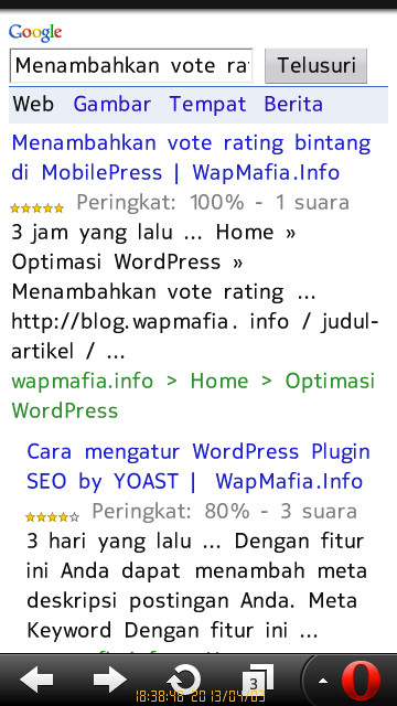 Menambahkan vote rating bintang di MobilePress